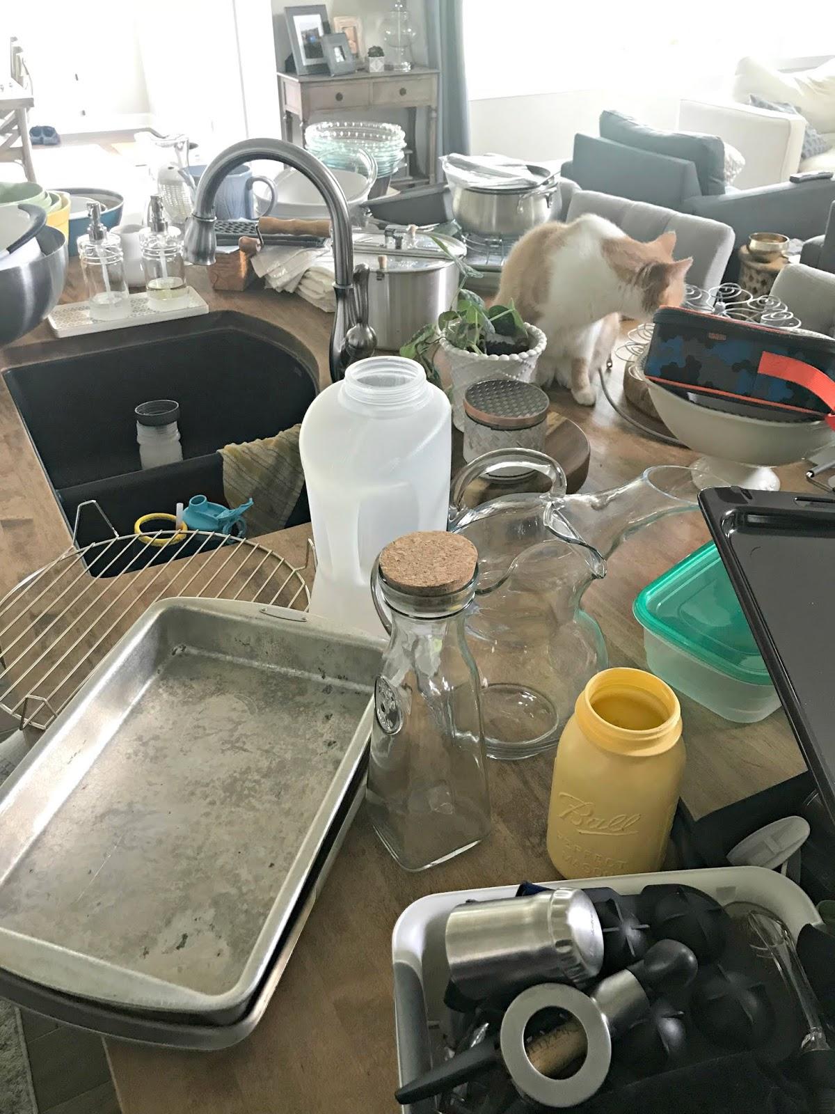 Organizing the kitchen cabinets