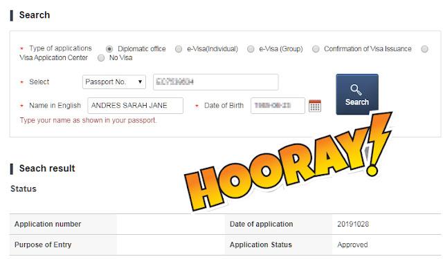 Approved Korea Visa