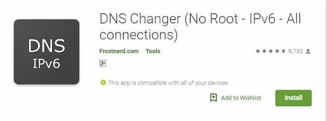 Menggunakan Aplikasi DNS Changer