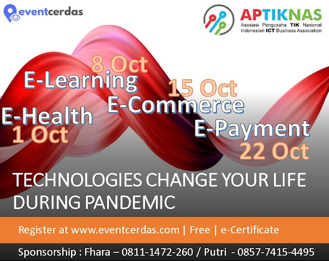 Ikuti Virtual Events membahas Technologies Change Your Life During Pandemic - Oktober 2020