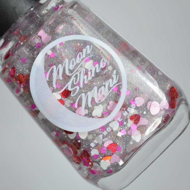 heart glitter nail polish in a bottle