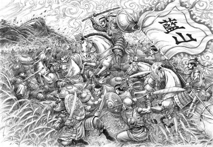HÌnh vẻ mô tả cảnh Nghĩa quân Lam Sơn giao chiến với quân Minh tại Ải Chi Lăng