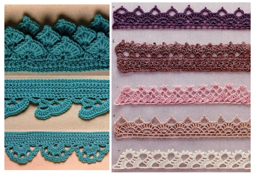 Pasatiempos entre hilos y puntadas: Bordes crochet patrones