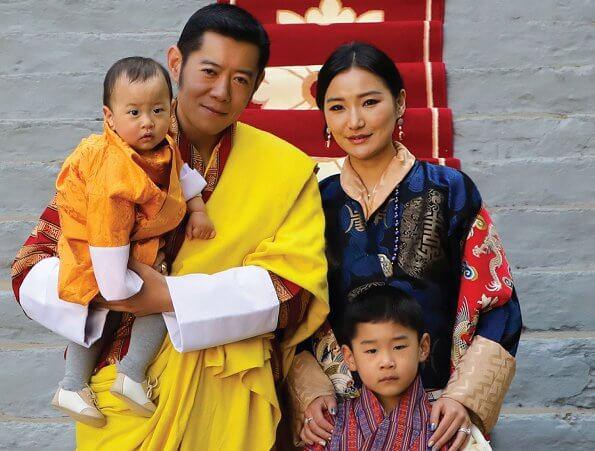 King Jigme Khesar Namgyal Wangchuck, Queen Jetsun Pema, Prince Jigme Namgyel Wangchuck and Prince Jigme Ugyen Wangchuck