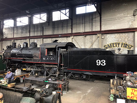 Enjoying the old trains at the Railway Museum in Ely, NV (Source: Palmia Observatory)