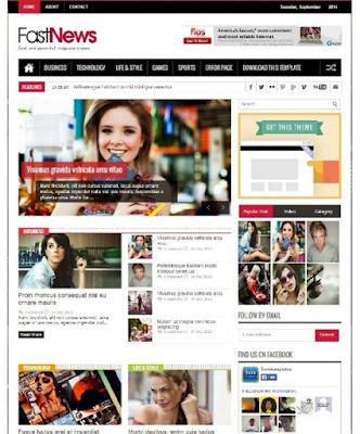 template blog berita responsive