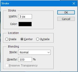 create border in passport size photo with stroke