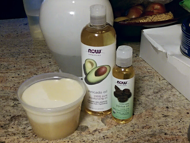 Use this at home Whipped Shea Butter recipe  to combat dryness