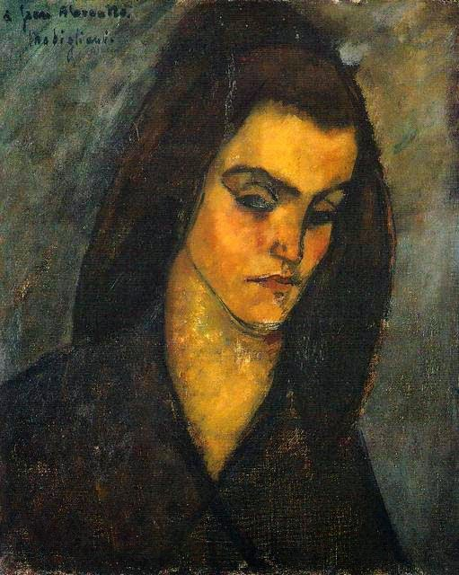 Beggar Woman, painting by Amedeo Modigliani