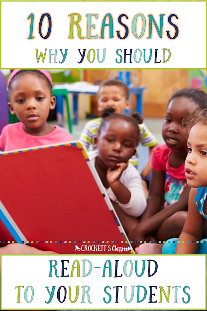 Studies show that reading aloud to your students will help them become better readers.
