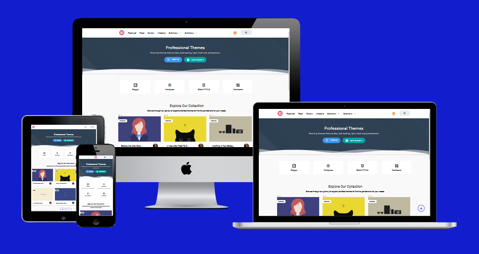 Viral Go! Night Mode 2 Footer fixed Blogger Template