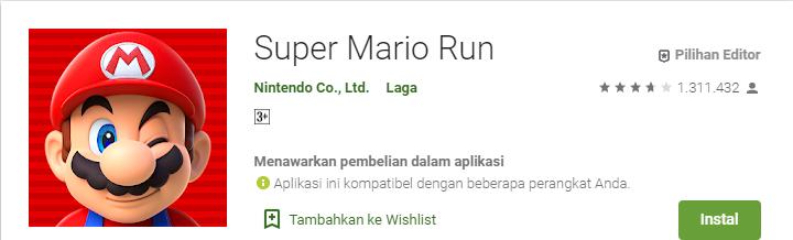 Game Platformer Terbaik untuk Android Super Mario Run