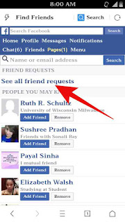 Facebook me send friend request check kaise kare 2