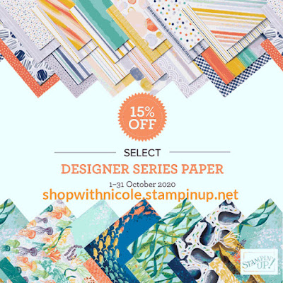 patterned paper, paper sale, craft supplies sale, craft sale, stampin' up! sale, designer series paper sale, nicole steele, the joyful stamper, independent stampin' up! demonstrator from pittsburgh pa