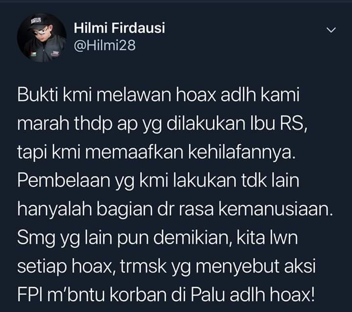 Soal Kebohongan Ratna S, Ini Pernyataan Tegas Ustadz Muda Pendukung Prabowo