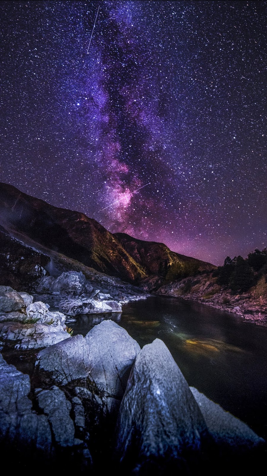 Colorful milky way