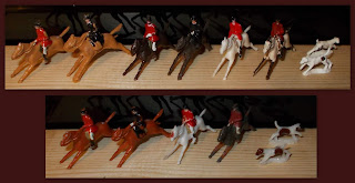 20mm Figures; 22mm Hunting Party; 35mm Figurines; Britains Lilliput; Cake Decoration Figures; Cake Decorations; Charbens Toy Farm; Charbens Toy Hunt; Charbens Toy Soldiers; Farm Fencing; Hilco Plastic Hunt; Horby Dublo; Horse Riders; Horses; Hunting Party; Plastic Hunting Set; Plastic Toy Figures; Riders; Side-saddle; Small Scale World; smallscaleworld.blogspot.com;