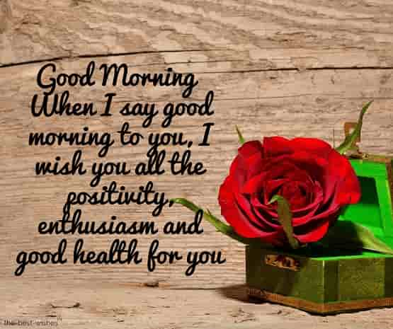 good morning greeting for good health