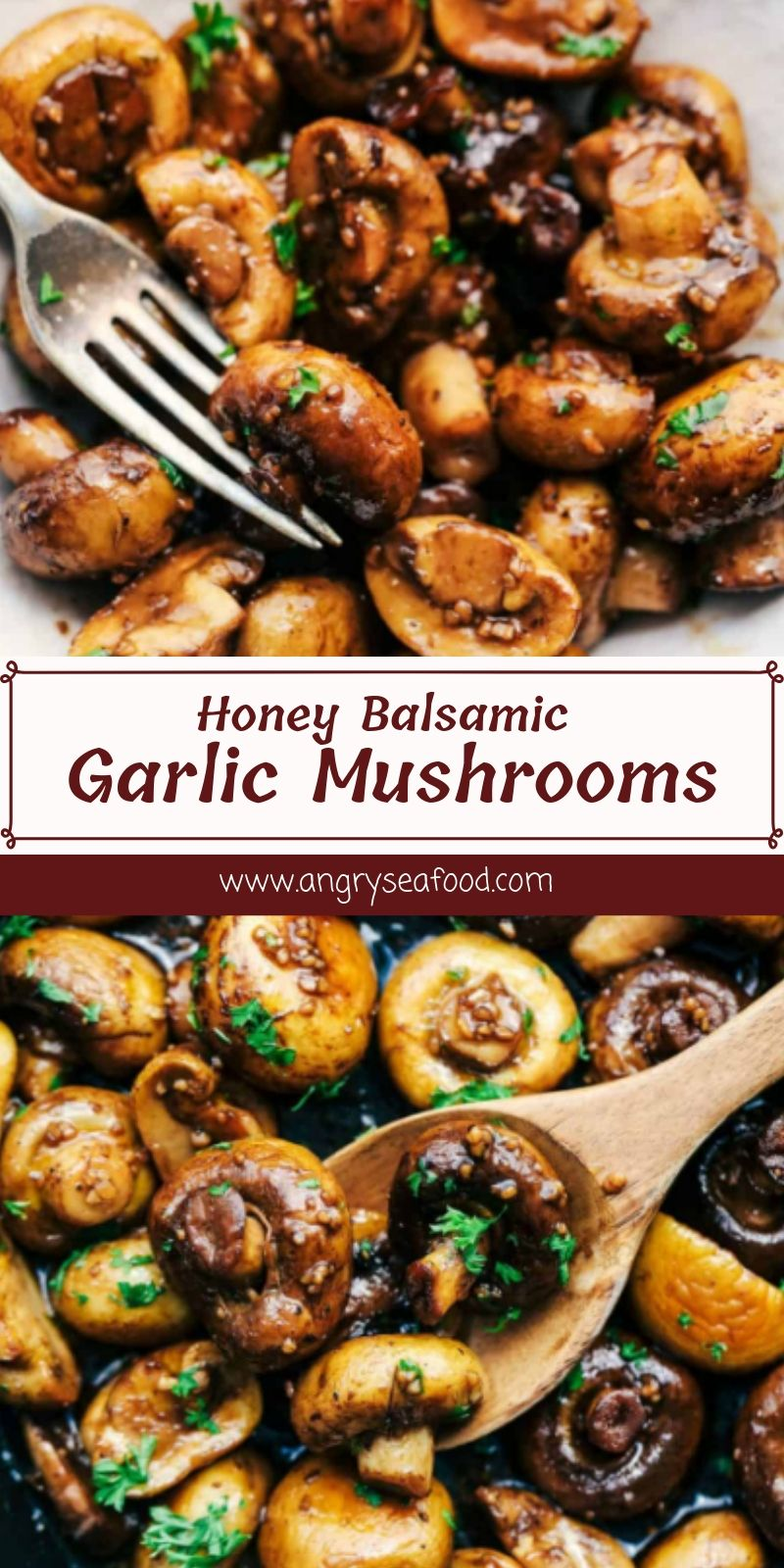 Honey Balsamic Garlic Mushrooms