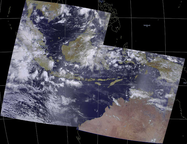 Composite Meteor M2 over Indonesia