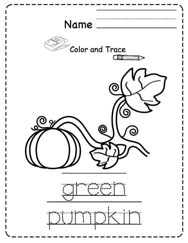 Pumpkin Life Cycle for Toddlers ~ Preschool Printables