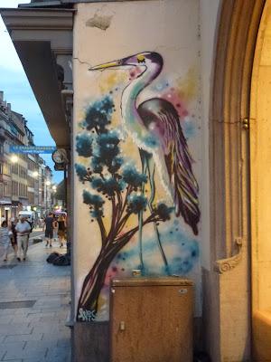 Fischreiher - im Aquarell-Style   Strasbourg