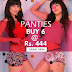 Lovzme - Get 6 Panties At Flat Rs. 444 Only