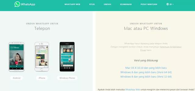 Menggunakan Aplikasi Whatsapp Mesenger di Laptop