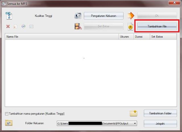 Klik Tambahkan file dan cari file yang akan Sobat konvert.