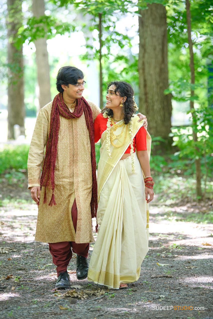 Outdoor Indian Wedding Photography at German Park Kerala South Asian SudeepStudio.com Ann Arbor Indian Wedding Photographer