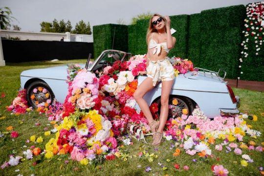 Kimberley Garner - Coachella  VIP Area of Revolve