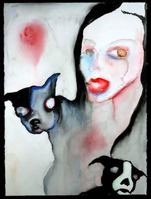 Pregenital Influences, pintura de Marilyn Manson.