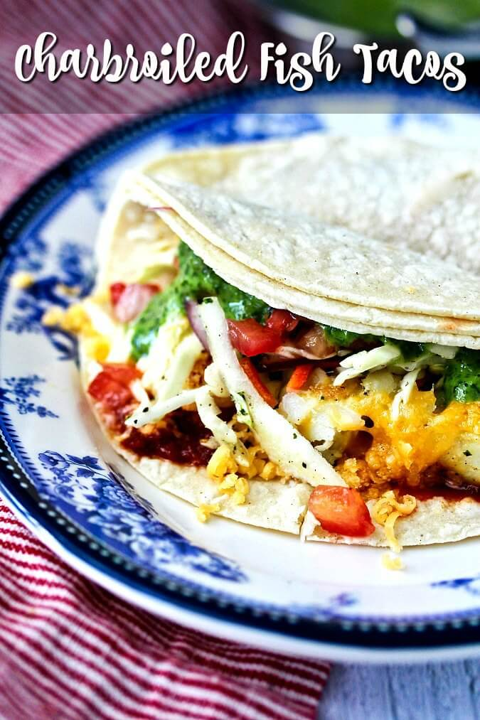 Wahoo's Grilled Fish Tacos with Citrus Slaw with all of the ingredients