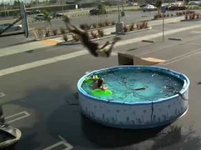 Kobe Bryant did successful awesome jump over a pool of snakes