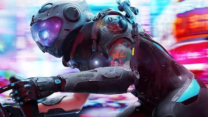 Sci Fi Motoqueiro Cyberpunk