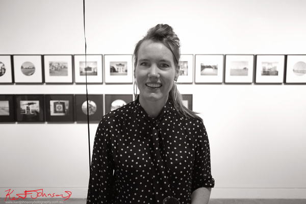 Portrait of Jane Brown, opening night of, Sporting Country at Stills Gallery.