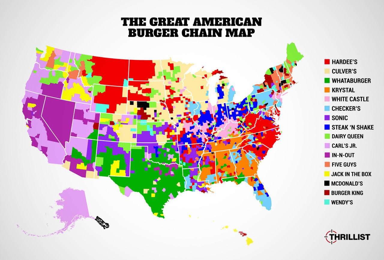 The great american burger chain map