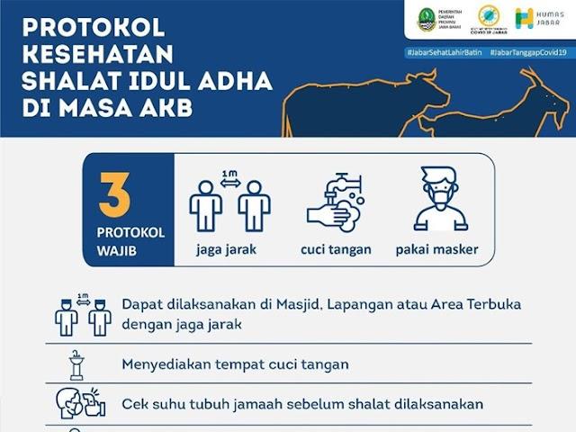 Ini Protokol Kesehatan Salat Idul Adha dan Kurban Sesuai Keputusan Gubernur Jawa Barat