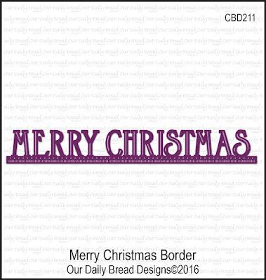 ODBD Custom Die: Merry Christmas Border