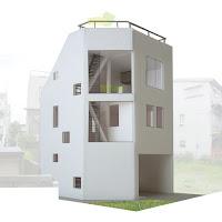 「たてにわ」が息吹を吹き込む木造三階建・狭小都市型住宅