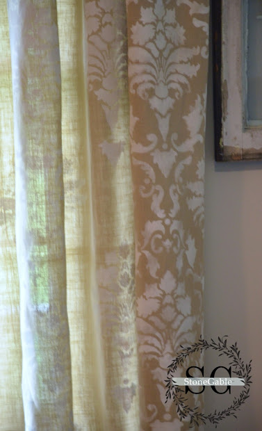 DIY Painting Fabric Curtains