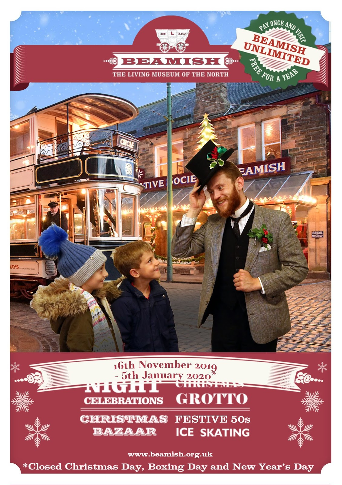 20 Christmas Eve Events for Kids in North East England  - Beamish