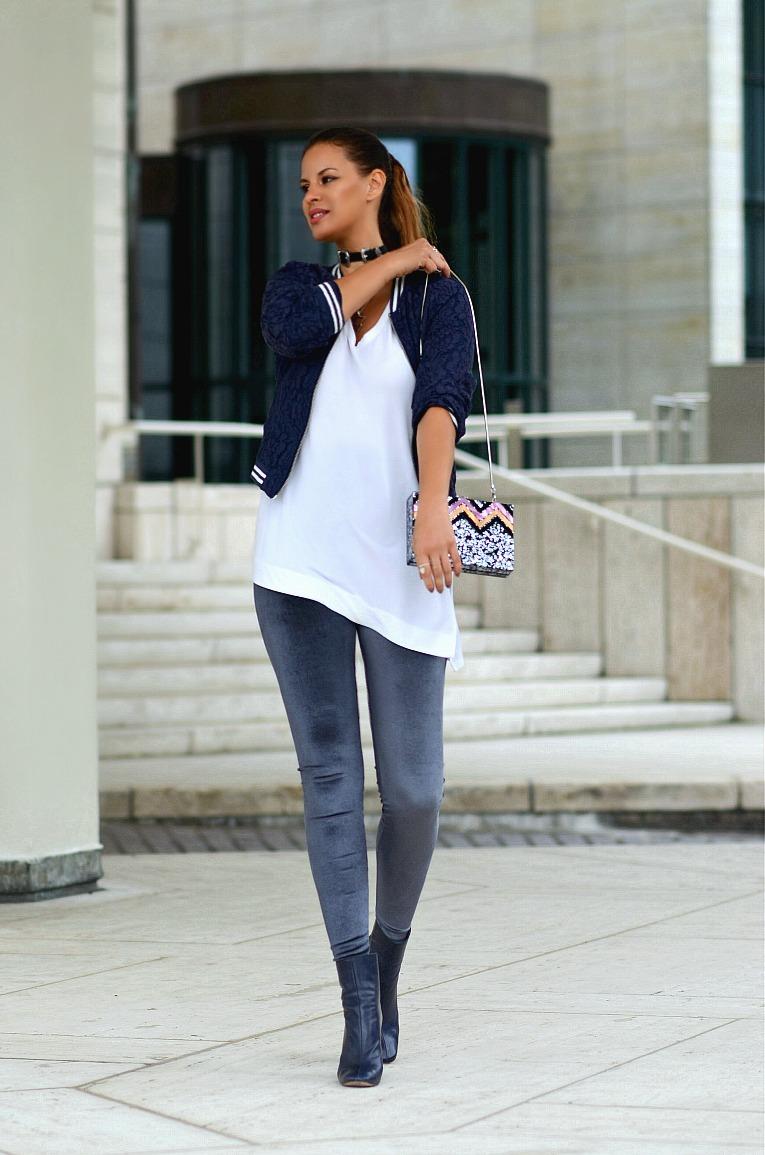 Zara velvet legging, Jacky Luxury lace bomber, Western belt choker, Tamara Chloé, TC Style Clues
