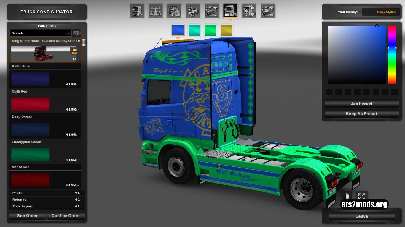 Custom Skin King of the Road for Scania RJL