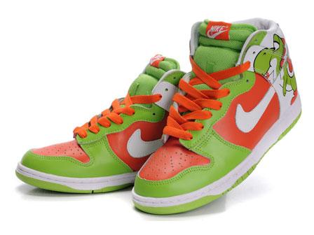 ee33df0f08ea High Tops Nike SB Dunk   Nike SB Dunk Yoshi High Tops Super Mario ...
