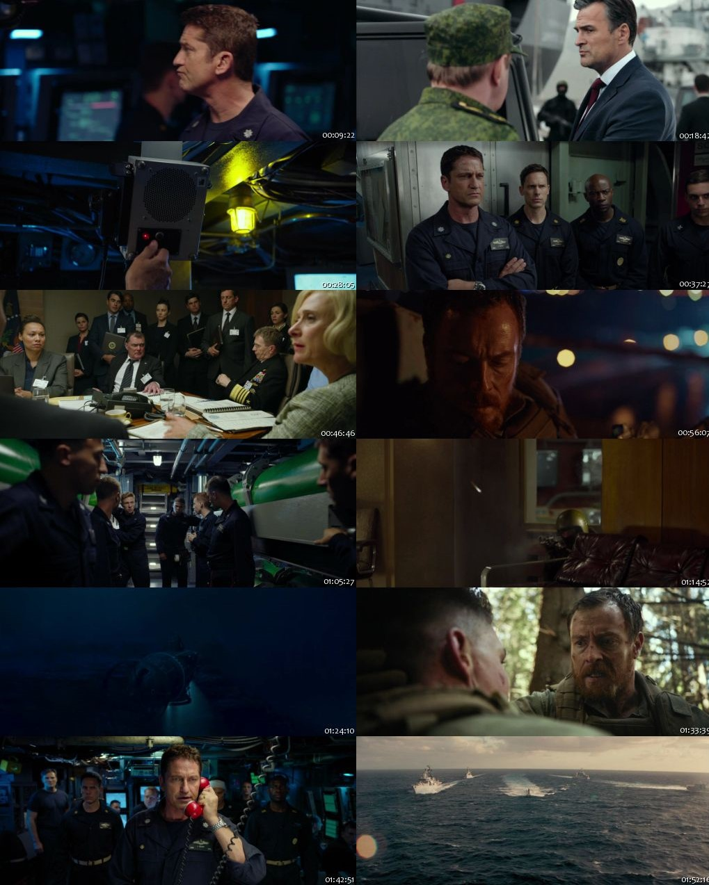 Hunter Killer 2018 BRRip 720p Dual Audio