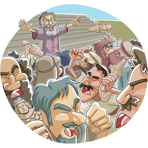 Today's Christian Clipart: The riot in Ephesus