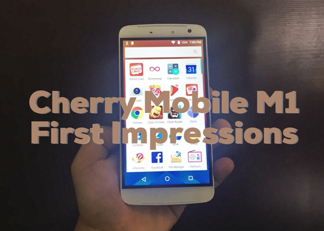 Cherry Mobile M1 First Impressions