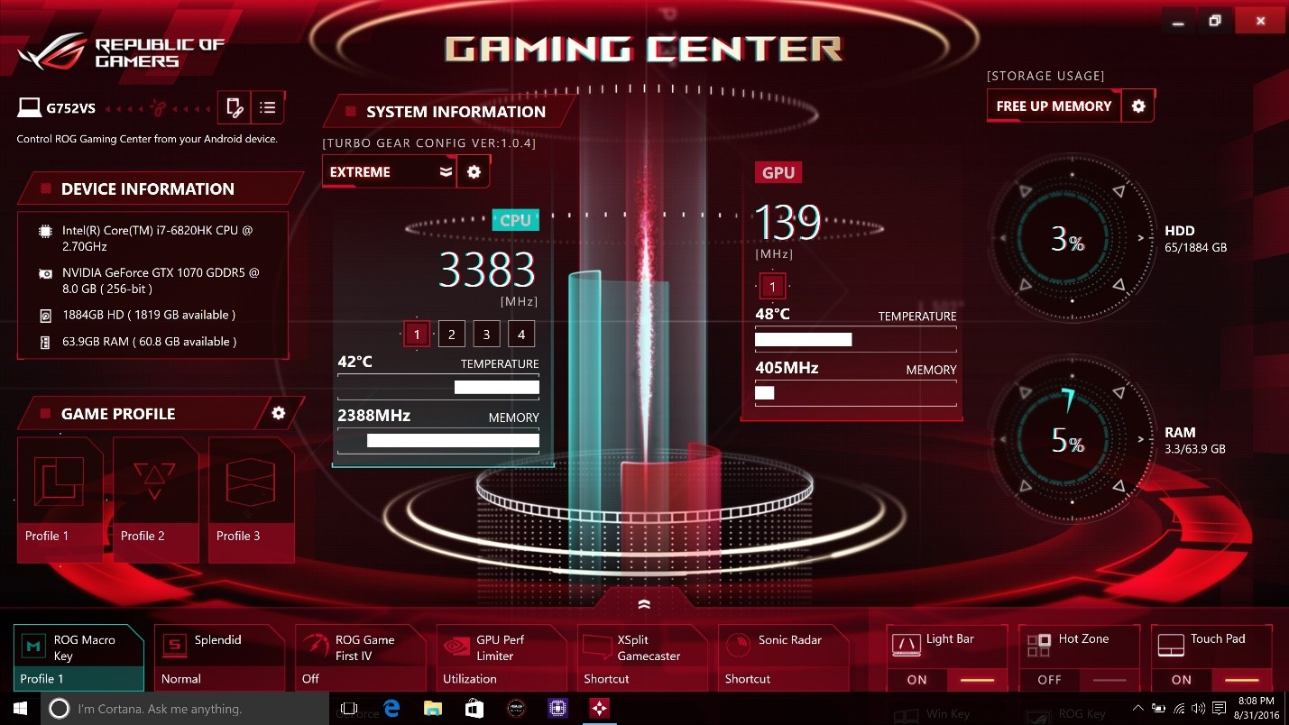 ASUS ROG G752VS, Notebook Gaming Terkuat dengan Processor Core i7