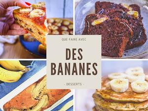 Les meilleures recettes de desserts à la banane